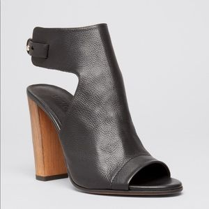 Vince // Addie Open Toe Leather Bootie